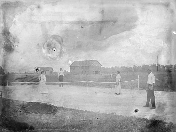 Tennis game photograph