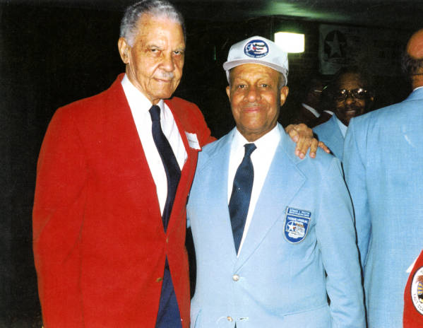 Bernard S. Proctor and Benjamin O. Davis Jr. at Tuskegee Airmen event photograph