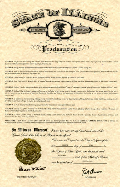 Colonel Charles Young Day Proclamation