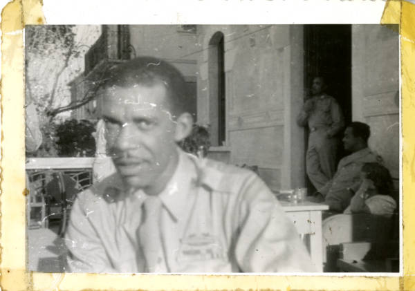 Benjamin O. Davis Jr. in Italy photograph