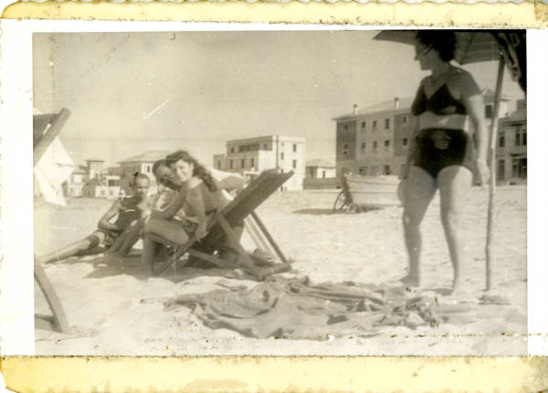 Bernard S. Proctor and friends at a beach in Italy photograph