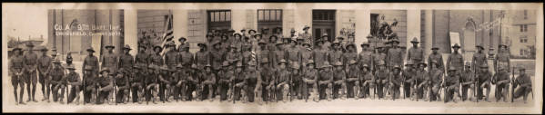 Company A Ninth Battalion Infantry Panoramic Photograph