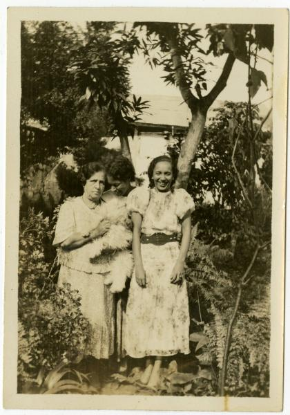 Ada Young, Lucienne Dalencour and Winnifred Scott photograph