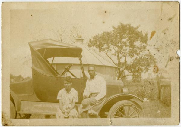 Charles Noel Young and unidentified woman photograph