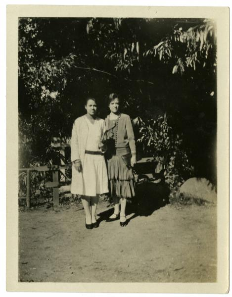 Frances and Nina L. Brown photograph