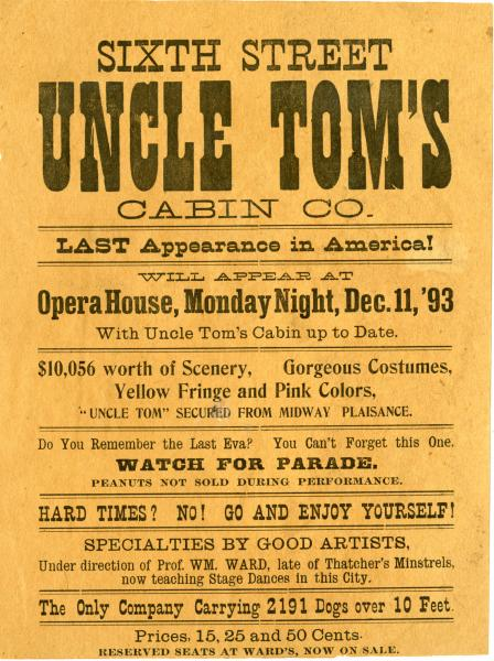 'Uncle Tom's Cabin' playbill