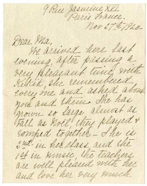 Ada Young letters