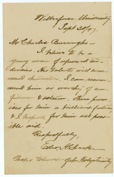 Charles Young miscellaneous letters