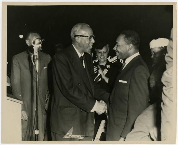 Anna Arnold Hedgeman, Asa Philip Randolph and Martin Luther King, Jr. photograph