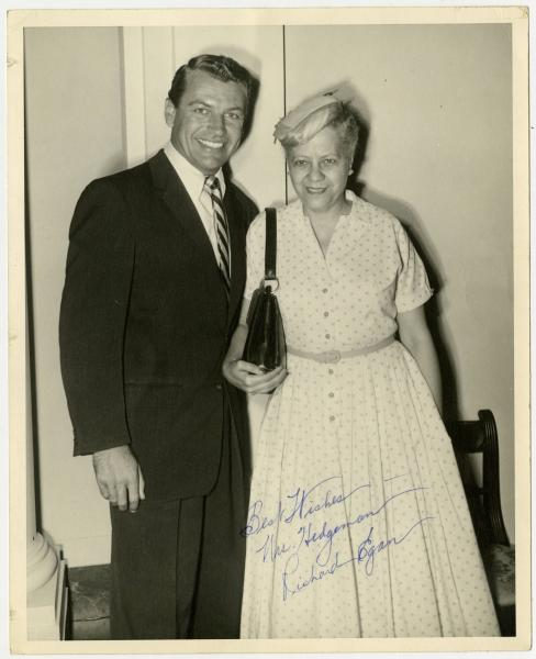 Anna Arnold Hedgeman and Richard Egan photograph