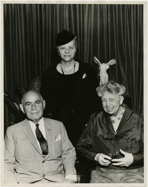 Anna Arnold Hedgeman, Eleanor Roosevelt, and Senator Herbert Lehman photograph