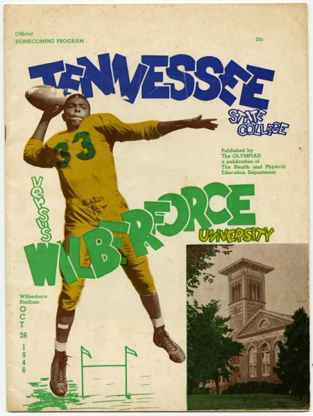 Wilberforce University versus Tennesee State College homecoming football game official program