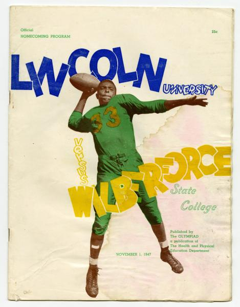 Lincoln University vs. Wilberforce University homecoming football program