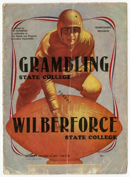 Wilberforce State College vs. Grambling State College souvenir football program
