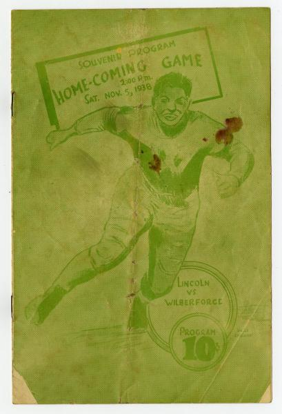 Lincoln versus Wilberforce homecoming game souvenir program