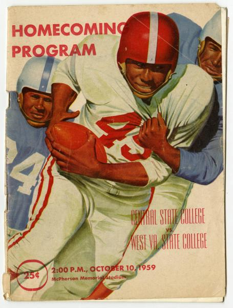 Central State College vs. West Virginia State College souvenir football program