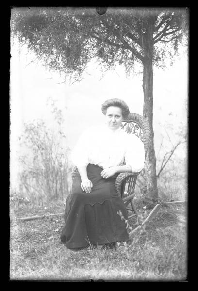 Woman in rocking chair portrait