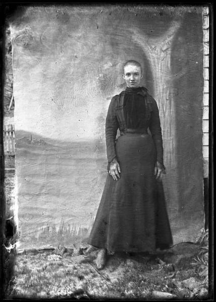 Formal young woman portrait