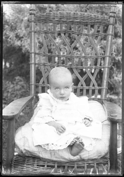 Infant in gown portrait
