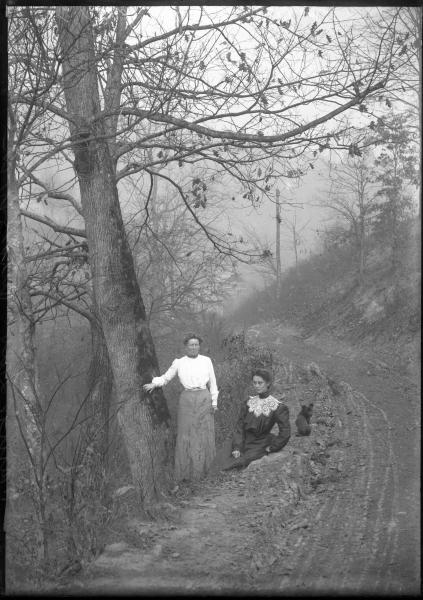 Women by the road photograph