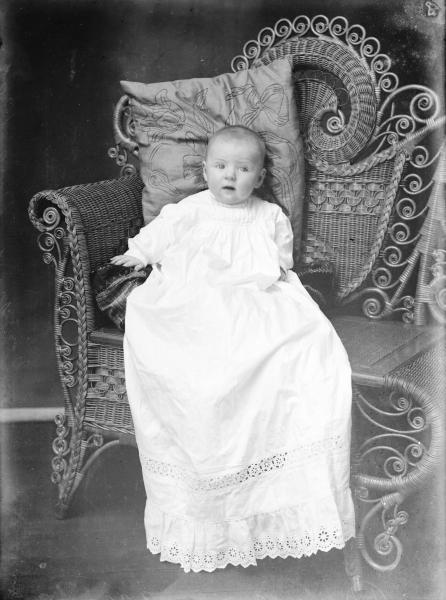Infant in chair portrait