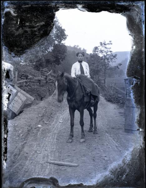 Sidesaddle on a horse