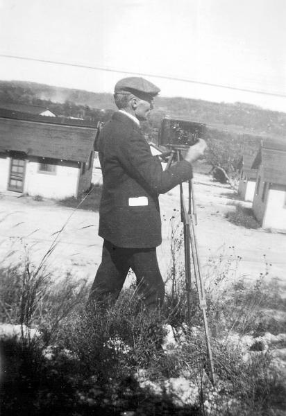 Ihna Thayer Frary with camera
