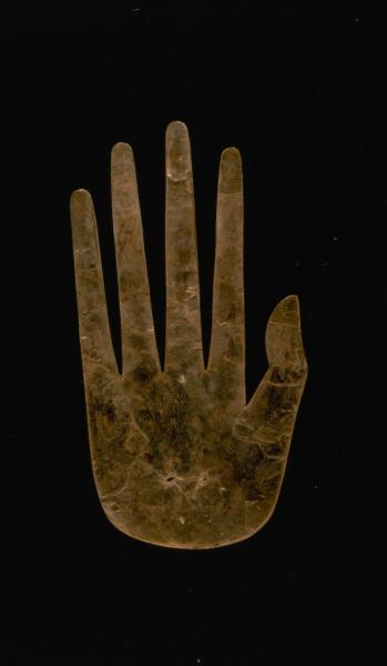 Effigy hand made of mica