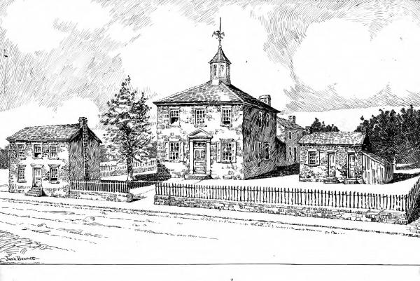 Ohio's first capital at Chillicothe illustration