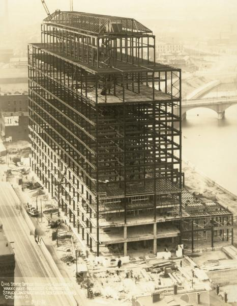 Ohio State Office Building construction