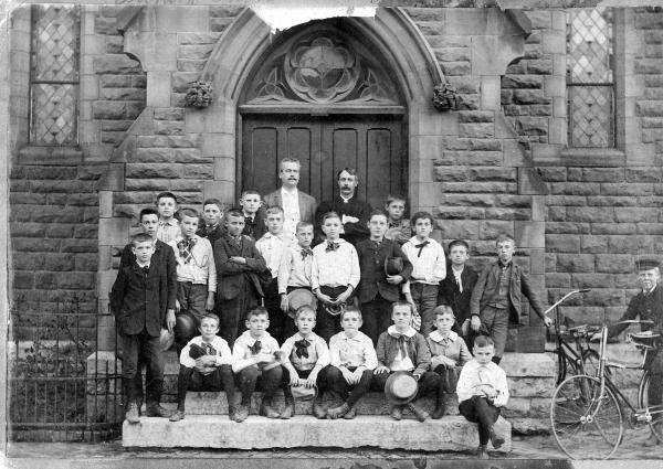Trinity Episcopal Church boys' choir photograph