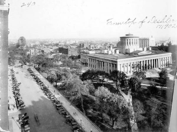 State Capitol from the Deshler Hotel photograph