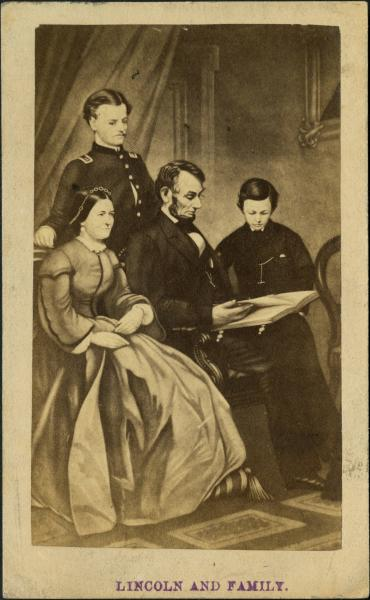Abraham Lincoln and family photograph