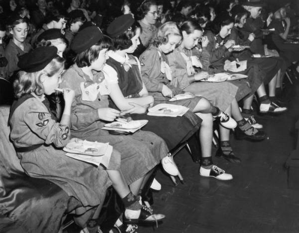 Girl Scout party at The F. & R. Lazarus Company