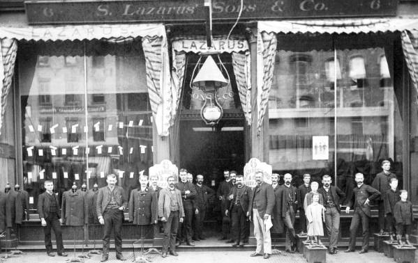 S. Lazarus & Sons Co. employees outside store