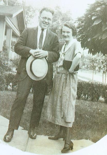 """W. T. """"Pop"""" and Edna Swenson photograph"""