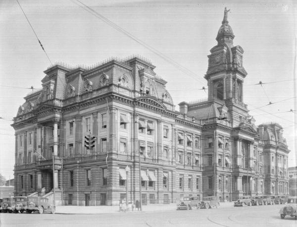 Franklin County Courthouse photograph, 1935