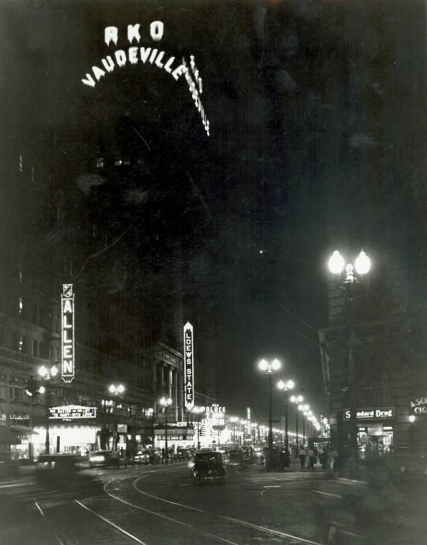 Theaters on Euclid Avenue photograph