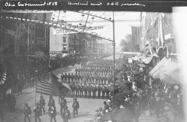 Grand Army of the Republic parade photograph, 1888