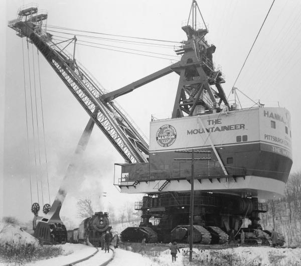 The Mountaineer stripping shovel photograph
