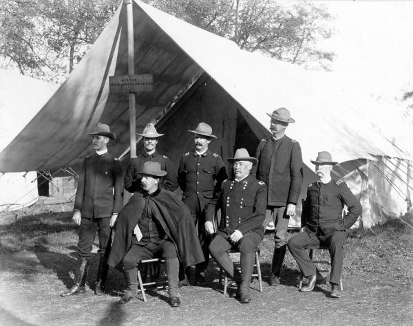 Major General Young and staff photograph