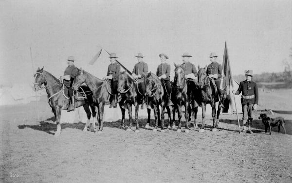 Henry A. Axline and staff officers photograph
