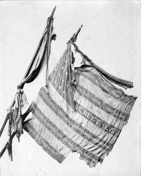 4th Ohio Volunteer Infantry Battle Flags photograph