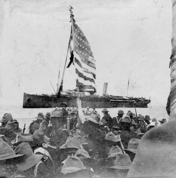 Battery H, 1st Ohio on ship photograph