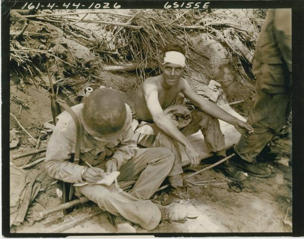 Wounded soldier photograph