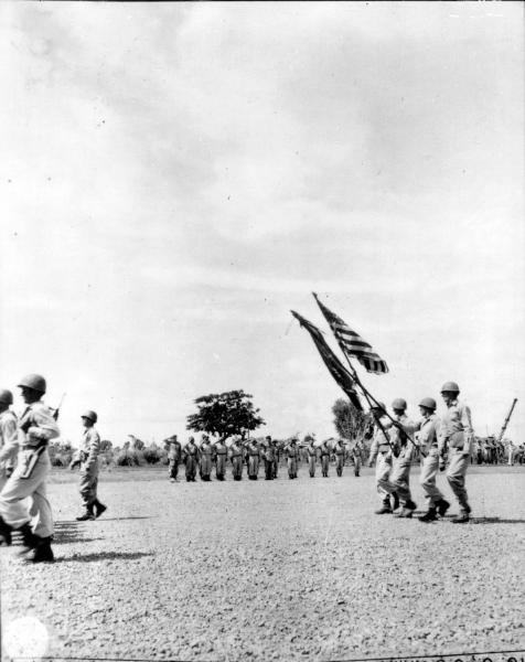 37th Infantry Division parade review in Luzon