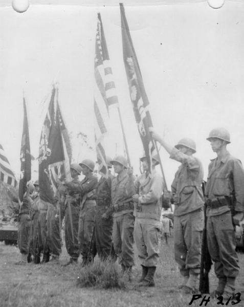 37th Infantry Division Color Guard in Philippines