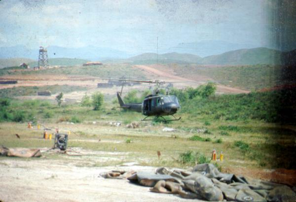 101st Airborne Division helicopter landing in Phu Bai, Vietnam
