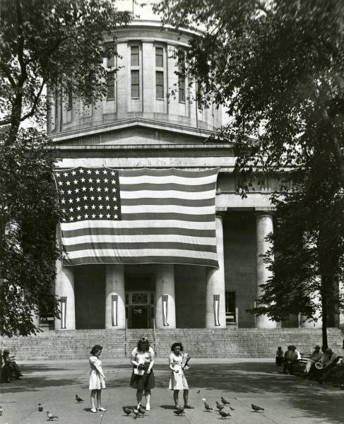 Flags Hanging at Ohio Statehouse