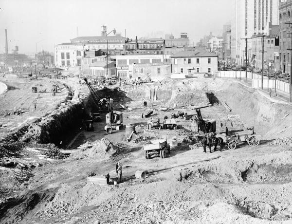 Ohio State Office Building site excavation